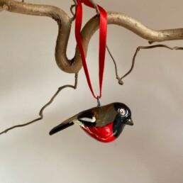 Hand carved Painted Bird | Bullfinch