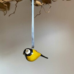 Hand carved Painted Bird | Tall Tit
