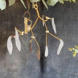 Hand Crafted Zinc Mistletoe | White Berries